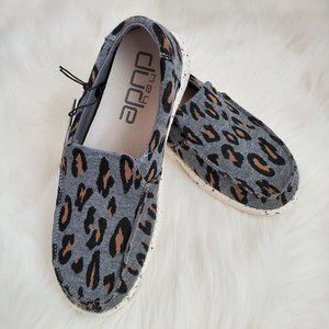 Hey Dude Womens Misty Cheetah Grey